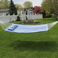 Sunnydaze 2-Person Quilted Hammock with Spreader Bars and Detachable Pillow - Thumbnail 42