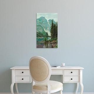 Easy Art Prints Melissa Wang's 'Mountainscape III' Premium Canvas Art
