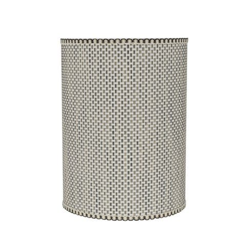 """Aspen Creative Drum (Cylinder) Shaped Spider Construction Lamp Shade in Multicolor Weave (8"""" x 8"""" x 11"""")"""