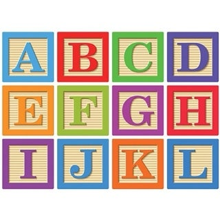 Ashley Productions ASH17020 Abc Blocks Magnetic Letters