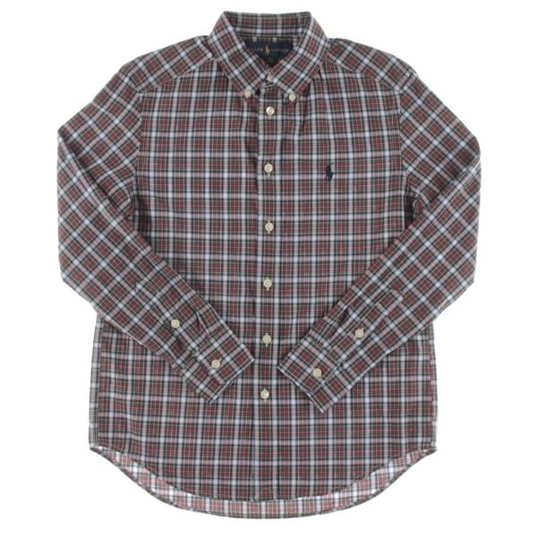 8b3f89301f2 Shop Ralph Lauren Boys Button-Down Shirt Plaid - Free Shipping On Orders  Over  45 - Overstock.com - 18414373