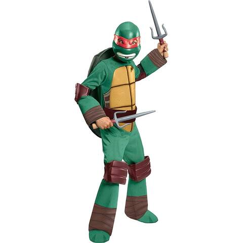 T.M.N.T. Deluxe Raphael Costume Child - Green