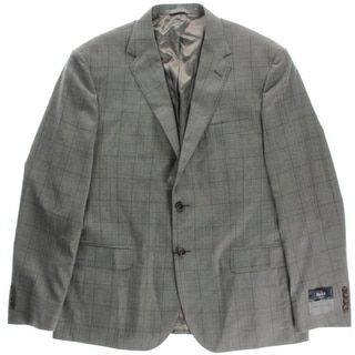 John W. Nordstrom Mens Checkered Collar Blazer - 46