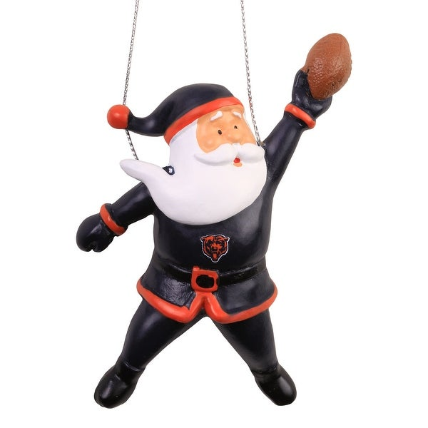 Chicago Bears Action Santa Ornament