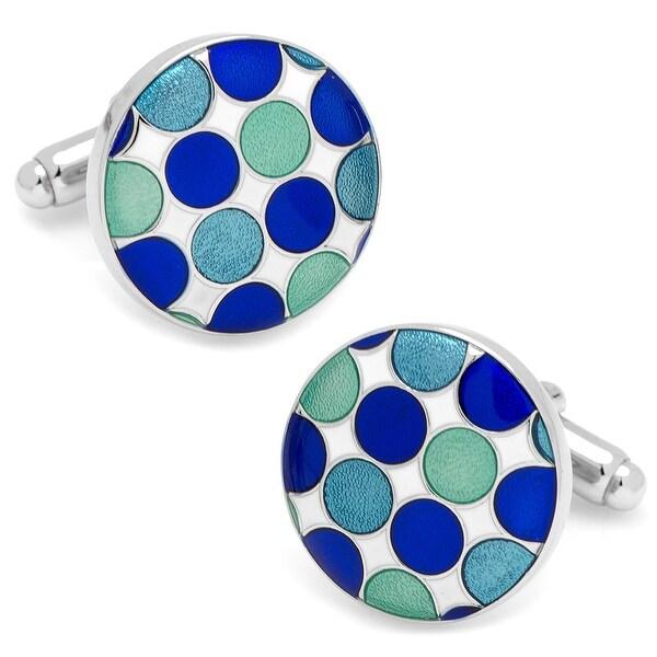 Blue Polka Dot Cufflinks