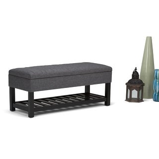 WYNDENHALL Ashton 43 inch Wide Contemporary Rectangle Ottoman Bench