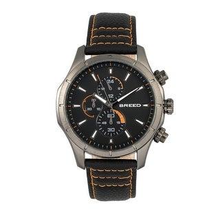 Breed Lacroix Men's Quartz Chronograph Watch, Genuine Leather Band, Luminous Hands