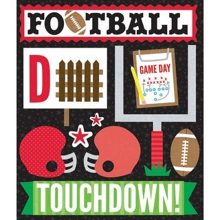 Life's Little Occasions Sticker Medley-Red Football - Red