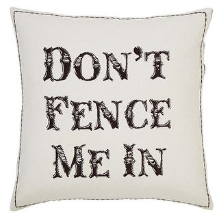 18 x 18 in. Dont Fence Me in Pillow - Marzipan #44; Espresso