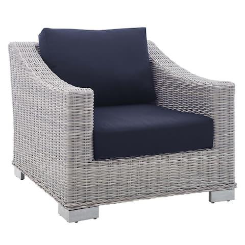 Conway Outdoor Patio Wicker Rattan Armchair