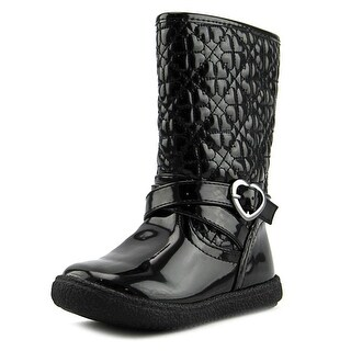 Nina Avary Round Toe Synthetic Mid Calf Boot