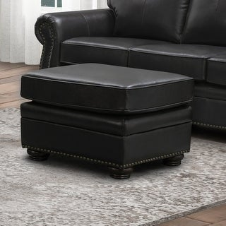 Link to Abbyson Richfield Top Grain Leather Ottoman Similar Items in Living Room Furniture