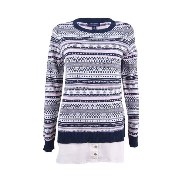 Tommy Hilfiger Women's Layered-Look Fair Isle Sweater