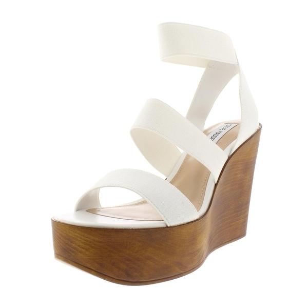 58f05a27d59 Shop Steve Madden Womens Blondy Wedge Sandals Platform Wood - Free ...