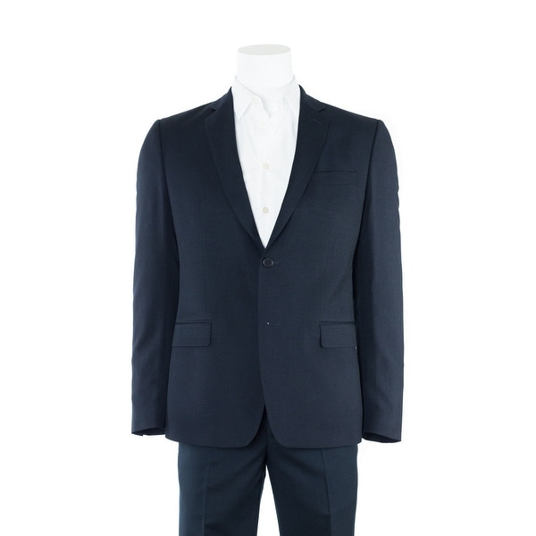 Shop Versace Collection Men S Navy Wool Two Button Suit
