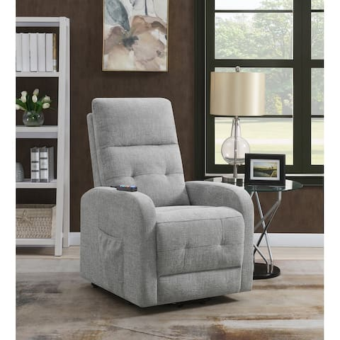 Lyle Upholstered Tufted Power Lift Recliner
