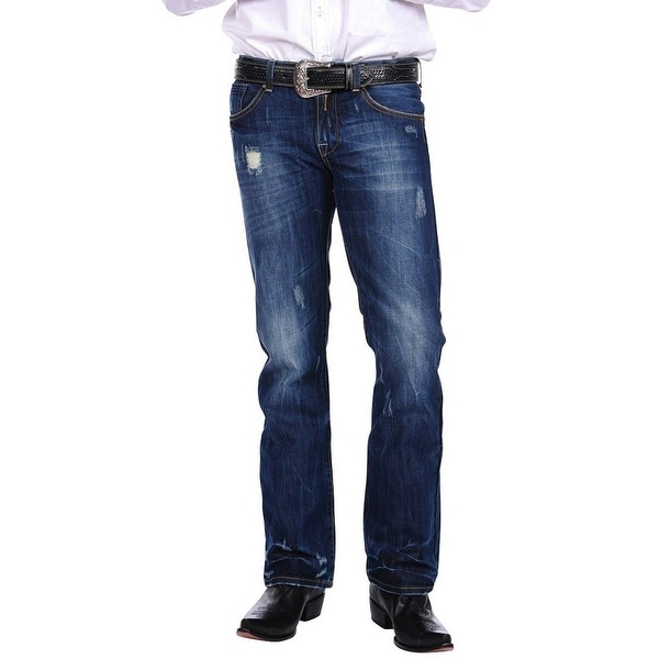 Stetson Western Denim Jeans Mens Rocks Fit Royal. Opens flyout.