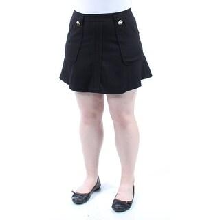 XOXO $88 Womens New 1382 Black Pocketed Mini A-Line Casual Skirt Juniors 11 B+B