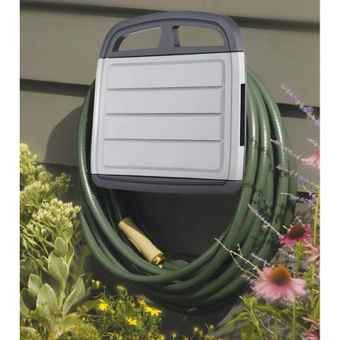 Garden Wall Mount Hose Holder with Storage Toolbox