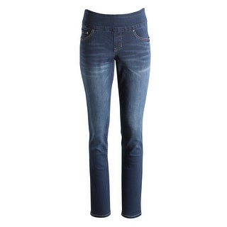 Western Glove Women's Jag Butter Denim Pull-On Skinny Jeans - Dark Wash - Wide