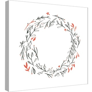 """PTM Images 9-99024  PTM Canvas Collection 12"""" x 12"""" - """"Wreath 5"""" Giclee Holiday Art Print on Canvas"""