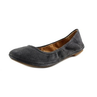 Lucky Brand Emmie Women Round Toe Canvas Gray Ballet Flats