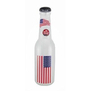 American Flag Jumbo 21 Inch Tall Bottle Coin Bank USA