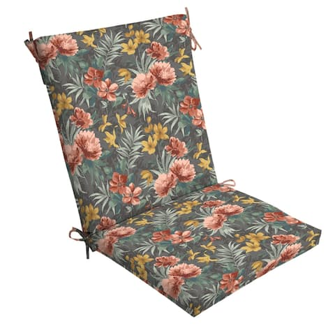 Arden Selections Phoebe Floral Outdoor Chair Cushion - 44 in L x 20 in W x 3.5 in H