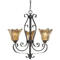 Millennium Lighting 7123 Chatsworth 3-Light Single Tier Chandelier - Burnished Gold