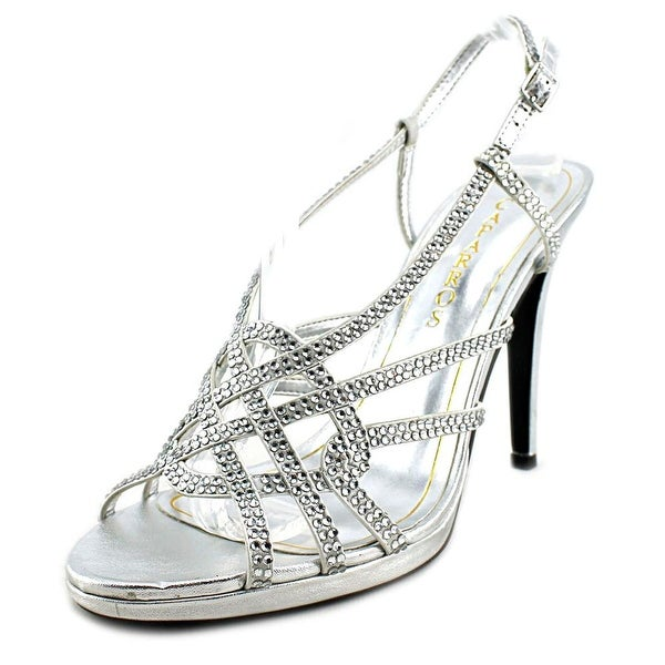 Caparros Vegas Women Open Toe Synthetic Silver Sandals