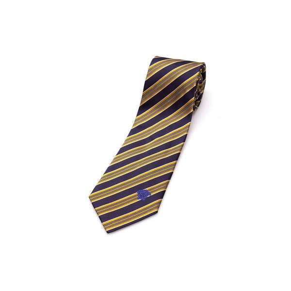 Versace Men Slim Silk Neck Tie CR8LSEB0894 0003 Navy Blue Yellow