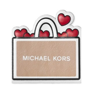 Michael Kors Womens I Love Shopping Leather Stickers Hearts Stick On