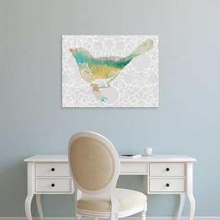 Easy Art Prints Jennifer Goldberger's 'Patterned Bird I' Premium Canvas Art