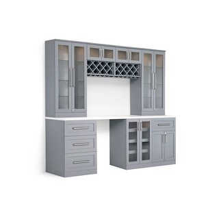 """NewAge Products Home Bar Series 72""""W x 25""""D 8 PC Shaker Style"""