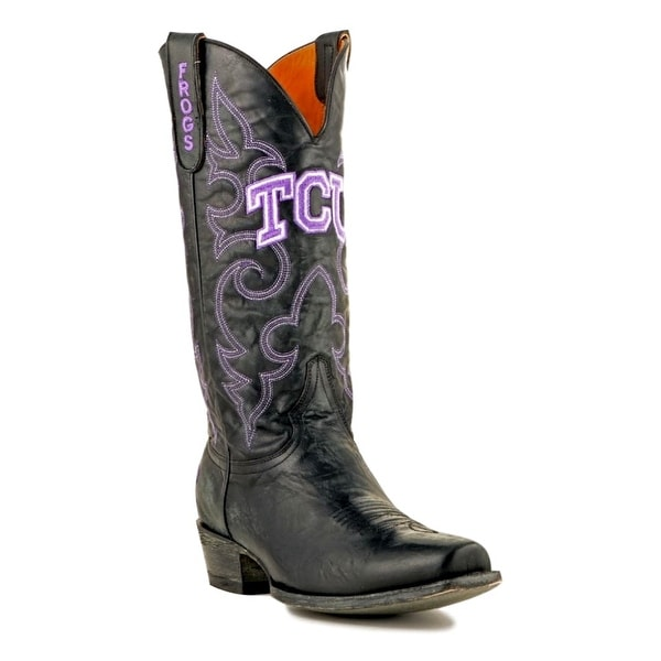 Gameday Boots Mens College Team Texas Christian Frogs Black