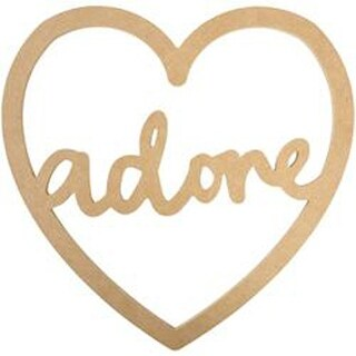 """10.5""""X10.5""""X.25"""" - Beyond The Page Mdf Adore Script Heart"""