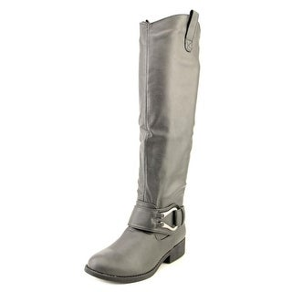 Qupid Plateau-17 Women Round Toe Synthetic Knee High Boot