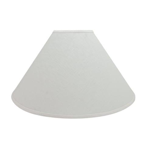 "Aspen Creative Hardback Empire Shaped Spider Construction Lamp Shade in Off White (7"" x 23"" x 14"")"