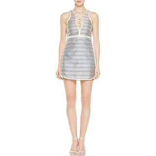 Rachel Zoe Womens Casual Dress Stripe Sleeveless