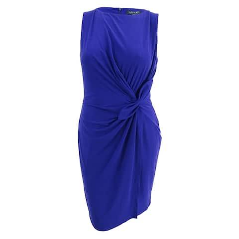 Lauren by Ralph Lauren Women's Jersey Dress (16, Cliffside Violet)