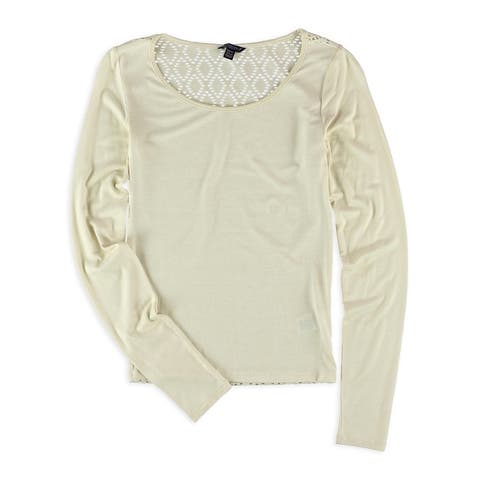 Aeropostale Womens Crochet Back Basic T-Shirt