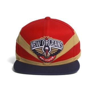 New Orleans Pelicans Mitchell & Ness Slash Cut & Sew Snapback