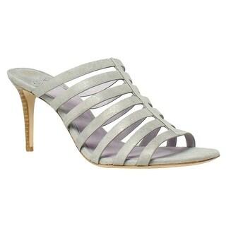 Johnston & Murphy Womens Sally SilverMetallic Heels Size 9.5