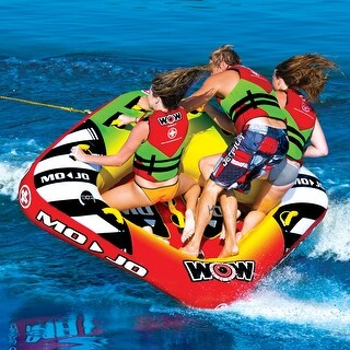 WOW Sports Mojo 1- 3 Person Towable Water Tube For Pool and Lake (16-1070)
