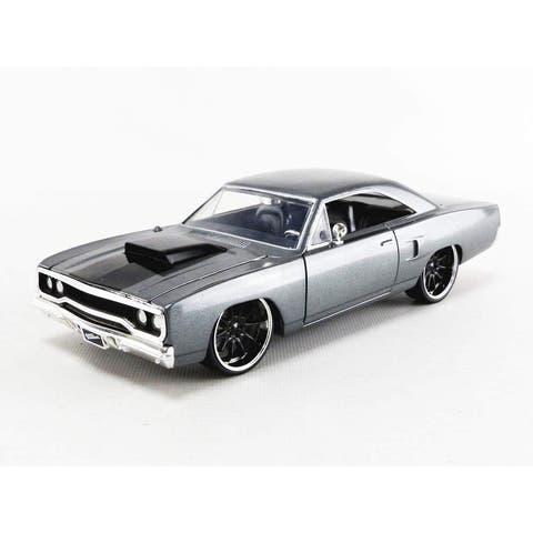 Fast & Furious Dom's Grey 1970 Plymouth Road Runner 1:24 Die Cast Vehicle - Gray