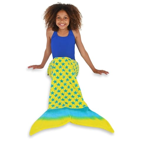 Toweltails 100% Cotton Mermaid Tail Shaped