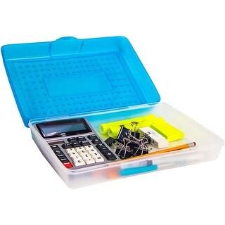 """Blue - Storex Large Pencil Case 7.75""""X11.25""""X3"""""""