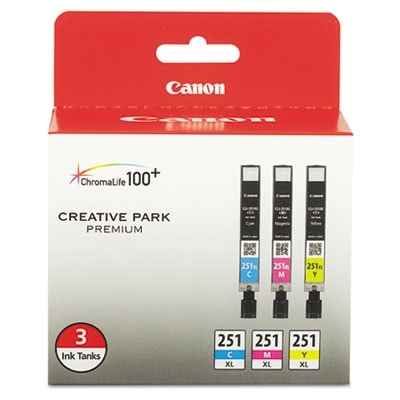 """Canon CLI-251XL Ink 3-Pack Toner Cartridge Drums"""