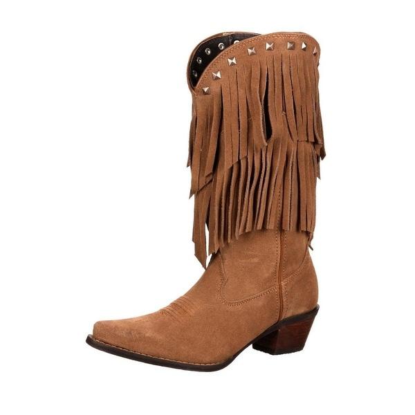 Durango Western Boots Womens Crush Flirty Fringe Desert Tan
