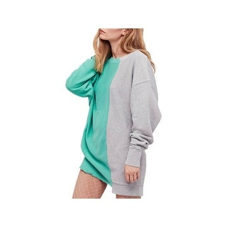 Free People Womens Sweatshirt Colorblock Raw Hem
